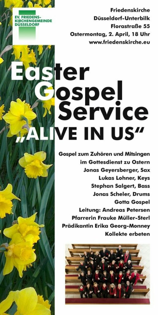 Flyer Easter Gospel Service